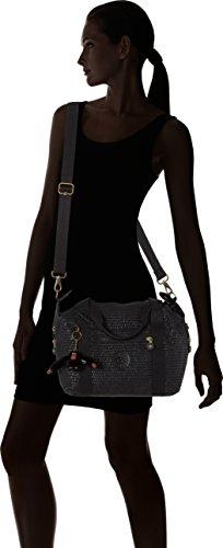 Kipling Art S - Bolsos maletín Mujer Negro (Black Scarlet Emb)