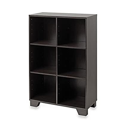 Real Simple 6 Cube Storage Unit In Espresso With 6 Open Front Storage  Compartments