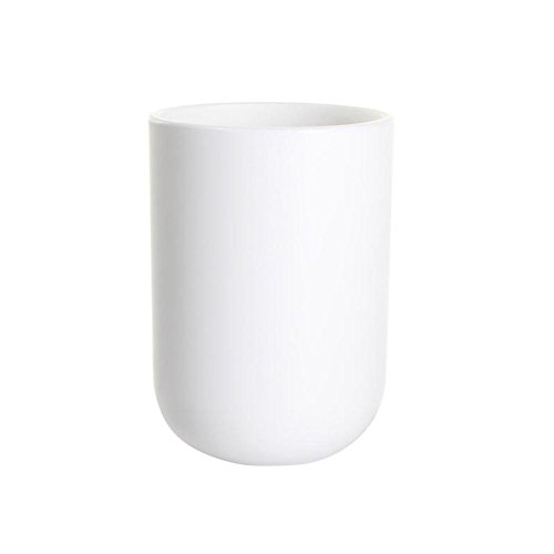 (UVIVIU Barthroom Cups, Plastic Toothbrush Holder, Tumbler Cup, 350ml (White))