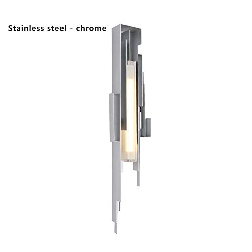 PeiQiH Modern Creative Wall lamp, LED Stainless Steel Copper Hardwired Room Decorate Lamps Restaurants Hotel Living Room Aisle Indoor Wall Lights-D 80x20x9cm