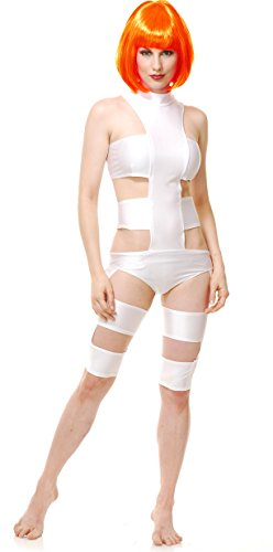 Leeloo Womens Costume The Fifth Element Dallas Spandex Adult 5th Dimension Movie (X-Small) (Leeloo 5th Element)
