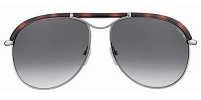 Tom Ford Men's Marco Sunglasses, Silver/Red (Marco Eyewear Sunglasses)