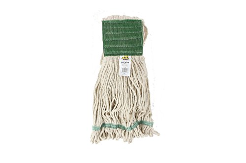 Bristles Wet Mop Head Loop End 5 Inch Wide Headband 4 Ply Cotton Synthetic Yarn, Pack of 12 (Large, White)