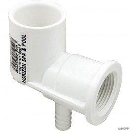 Waterway Plastics 212-0590 0.75 x 0.375 in. Ozone Cluster Jet Body