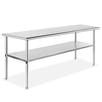 COMMERCIAL STAINLESS STEEL TABLE KITCHEN FOOD PREP SHELF WORK BENCH