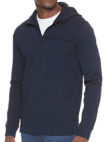 Banana Republic Men's Moisture Wicking Half Zip Hoodie Sweater Navy Blue (Large) from Banana Republic