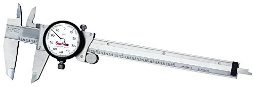 (Starrett 120A-6 Dial Caliper, Stainless Steel, White Face, 0-6