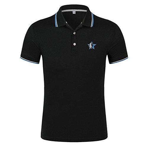 Godsent A-3 S-4XL Men and Women Well Performance Sport T-shirt++Cool Basketball Logo Printed Polo Shirt-B-XXXXL