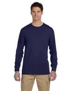Jerzees mens 5.3 oz. 100% Polyester SPORT with Moisture-Wicking Long-Sleeve T-Shirt(21ML)-J NAVY-L