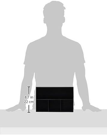 unionbasic Plat en cuir 4/tiroirs plateau Bureau Papeterie articles Gadget Organisateur Bo/îte de rangement Support pour stylo crayon cas Container marron