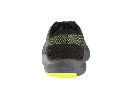Nike Kids Flex Experience RN 7 (GS) Running Shoes (4 Big Kid M, Black/Metallic Dark Grey/Volt/Dark Grey) by Nike (Image #2)