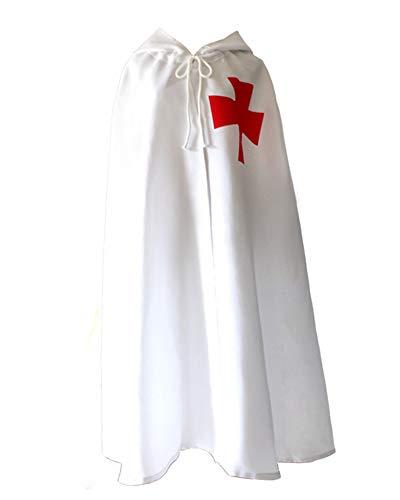 Rulercosplay Halloween Cloak Medieval Templar Knight Cape