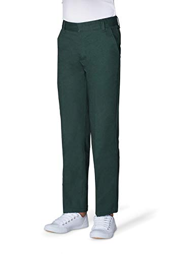 French Toast Little Boys' Flat Front Double Knee Pant with Adjustable Waist, Hunter, 6 ()