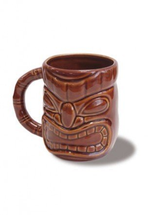 - Tiki 12-oz. Mug Dark Brown