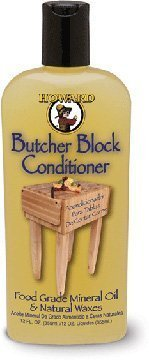 Howard Butcher Block Condtioner, Enriched with Orange Oils, Food Grade Mineral Oil with Vitamin E Butcher Block Oil & Conditioner, Bamboo, Butcher Bloch Counter Tops, 12oz size