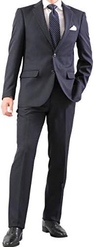2つボタンスーツ メンズ 程よくスリム ノータック スラックスは家庭で洗える簡単メンテナンス なめらか新素材