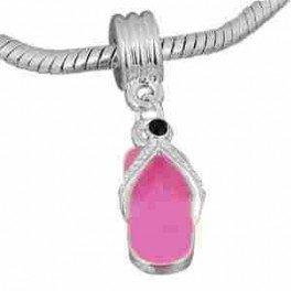 Buckets of Beads Sandal Dangle Charm Bead, Pink ()