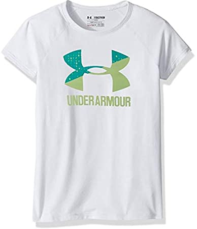 Under Armour UA de los niñas Solid Big Logo Camiseta de Manga Corta 1299322