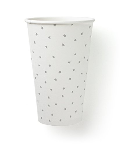 Susty Party SPCUP16GRY50 Supplies SFI Paper Party Cup, 16-Ounce, Grey, 50-Pack
