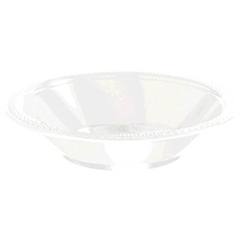 (Pack Of 20 Plastic Bowls 12oz - Frost White - Amscan)