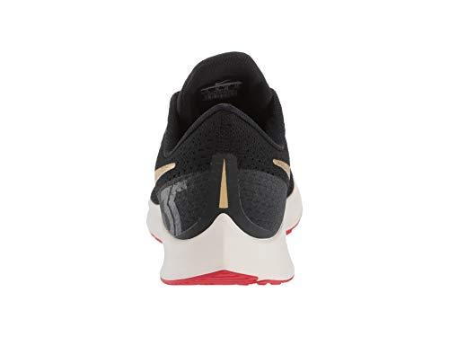 Nike Air Zoom Pegasus 35 Sz 6 Mens Running Black/Metallic Gold-University Red Shoes by Nike (Image #2)