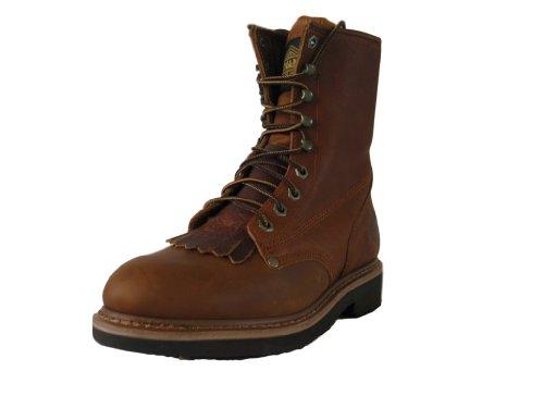 """Kiltie Lacer Boot - Bonanza Boots Men's Light Brown Leather 8"""" Kiltie Lacer Boots 13"""