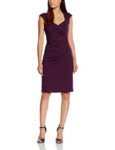 Hot Squash HSWD243, Vestido Cocktail para Mujer Violeta (Damson)