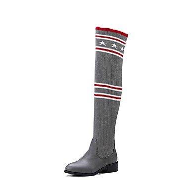 Innovador nieve Heart amp;M Combate Zapatos Invierno Punto gray Personalizados de de Botas Botas Botas botas de Mujer Confort Moda slouch Materiales 8PBqTxPn