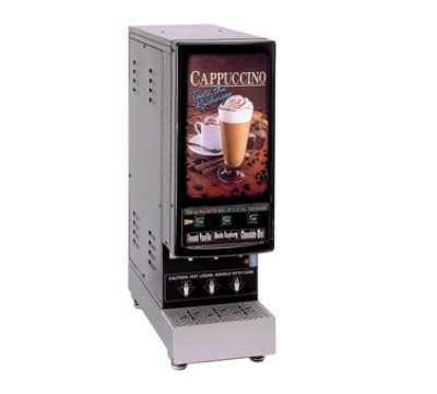 - Grindmaster-Cecilware 3K-GB-NL GB Hot Powder Electric Cappuccino Dispenser with (3) 4 lb Capacity Hoppers