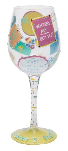 Lolita from Enesco Love My Wine Glass, New Mommy