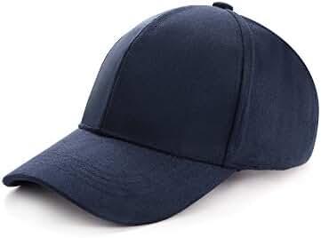 ZOMOY Baseball Hat Unisex Faux Suede Cotton Adjustable Plain Cap Polo Style