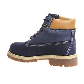 Timberland 6 in Premium Waterproof, Polacchine Unisex-bambini Two-tone Blue Nubuck