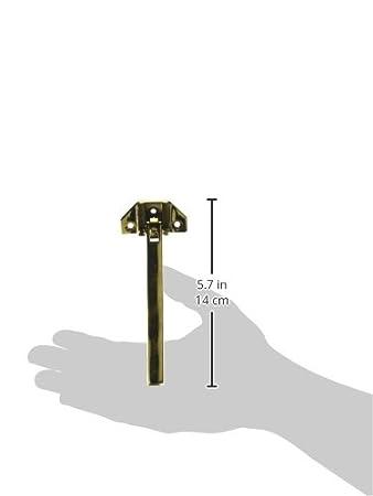 Deltana DGSB675U26 Solid Brass 6 3//4-Inch Door Guard