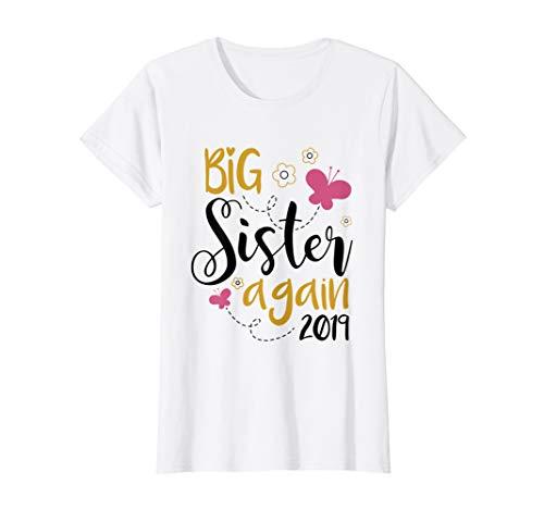 Big Sister Again 2019 T-shirt - Sibling Older Daughter Gift -
