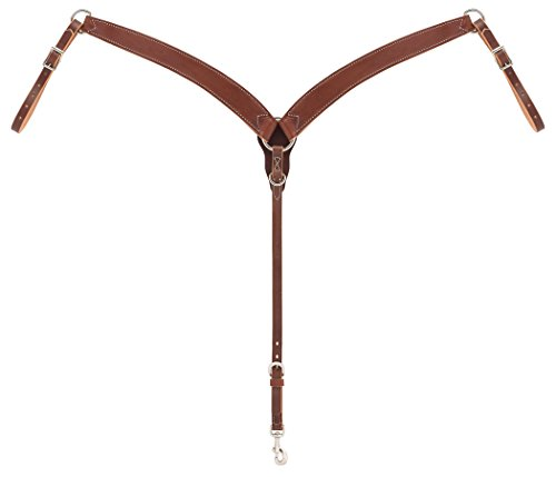 Weaver Leather Horizons Contoured Ring-in-Center Breast Collar, - Harness Breast Collar
