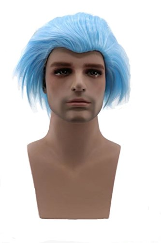 Doll Antique Wig (COSPLAZA Male Cosplay Wigs Short Spiky Anime Show Party Costume Hair Wig light Blue)