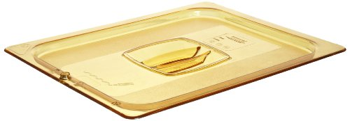 Rubbermaid Commercial Products Hot Food Standard Lid, 1/2 Size, Amber (FG228P23AMBR)
