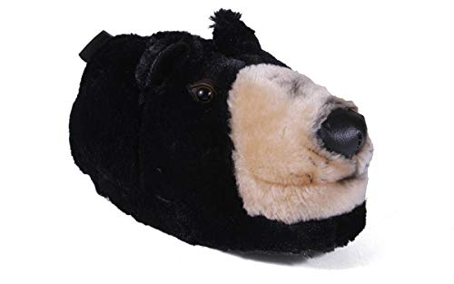 Comfy Feet Black Bear Animal Feet Slippers ()