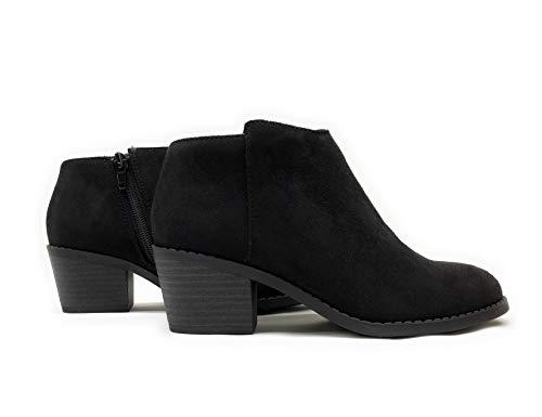 #Energyiis Black Short Ankle Booties for Little Girl's/Children/Kids (12 M US Little Kid, Black/Black IMSU)