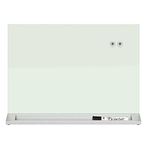 Quartet Glass Whiteboard Desktop Panel, Magnetic, 17 x 23, White Dry Erase Surface (GDP1723W)