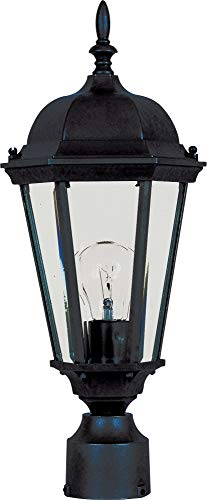 Maxim 1001BK, Westlake Cast, 1 Light Outdoor/Post Lantern, Black