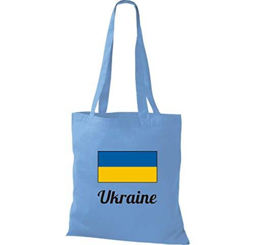 Algodón Mano 38 Bolso Marrón 42 Ucrania País Cm Shirtinstyle X Bolsa Yute De Claro Azul Claro xfIggE