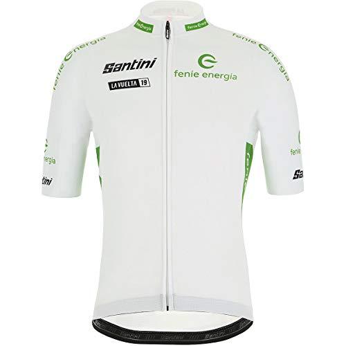 (Santini La Vuelta Leader Best Young Rider Jersey - Men's White, L)