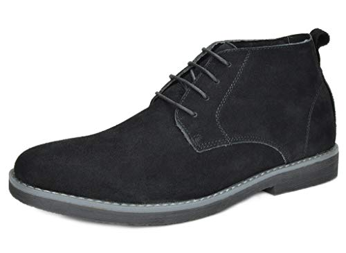 - Bruno Marc Men's Chukka Black Suede Leather Chukka Desert Oxford Ankle Boots - 11 M US