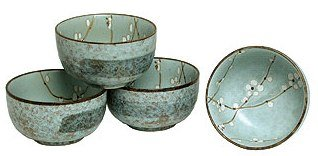 Set of Four Japanese Sakura Cherry Blossom 5 Inch Bowls
