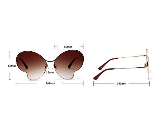 Sol Mariposa Gafas ZYT Ultra Marco Color Transparente Gafas De Mujer PURPLE De Luz Delgada COFFEE De Metal Sol qpCwwUE
