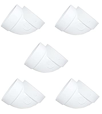 ZVac Central Vacuum Pipe Fittings Short 5pk Short 90 Degree for Replacement Compatible For Most Central Vacuum Systems