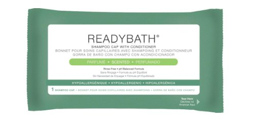 Medline MSC095230 ReadyBath Scented Rinse-Free Shampoo Cap with Conditioner, 30 - Rinse Shampoo Free