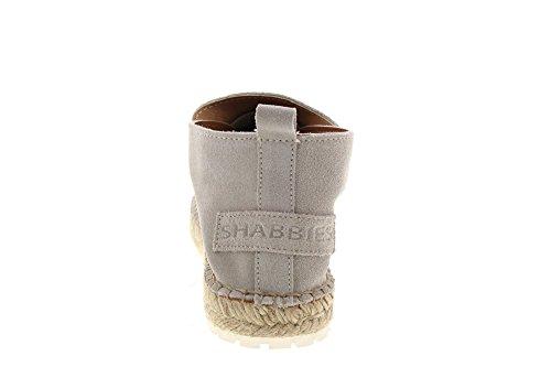 Shabbies Amsterdam Damen Shabbies Bottine Hors Espadrilles Blanc