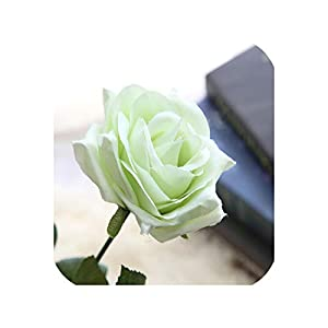 1PC Latex Rose Artificial Flowers Real Touch Rose Flowers for Home Wedding Decoration Party Birthday Mother's Gift,6 25